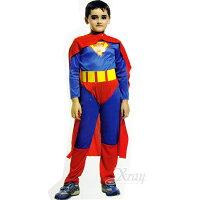 蝙蝠俠與超人周邊商品推薦X射線【W911483】無敵超人裝連身裝扮服,萬聖節服裝/化妝舞會/派對道具/角色扮演