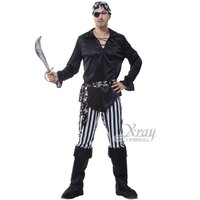 萬聖節Halloween到X射線【W657380】獨眼黑白 海盜,獨眼龍/化妝舞會/角色扮演/尾牙表演/萬聖節/聖誕節/cosplay/變裝派對