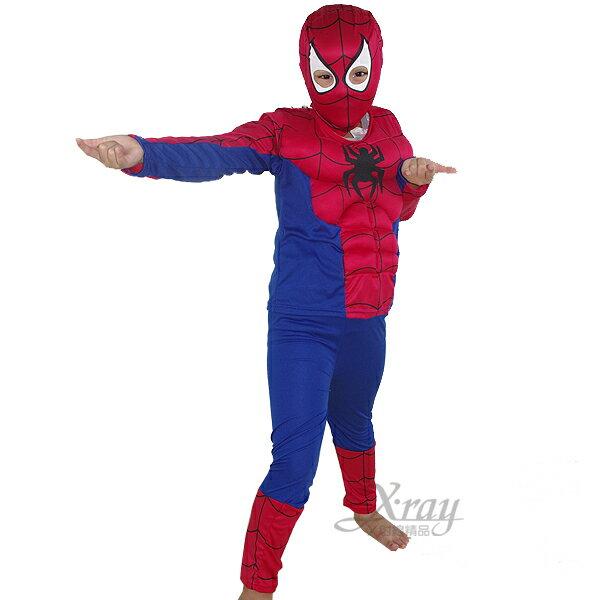 X射線【W370008】二件式蜘蛛人肌肉服裝,化妝舞會/角色扮演/尾牙表演/萬聖節/聖誕節/兒童變裝/cosplay