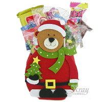 小熊維尼周邊商品推薦X射線【X460404】聖誕糖果組(小熊),糖果襪/糖果罐/聖誕節/交換禮物/聖誕小禮物