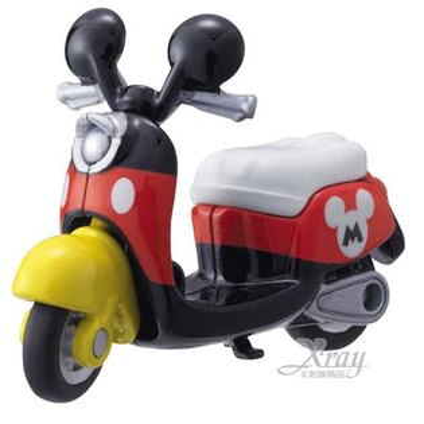 X射線【C802907】迪士尼米奇造型小摩拖車《黑白》經典造型值得收藏,模型車/造型車/玩具車