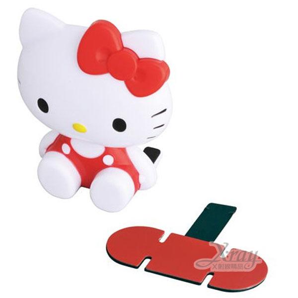 X射線【C864353】Hello Kitty 車用造型手機座(紅.坐姿),手機固定架/手機吸著座