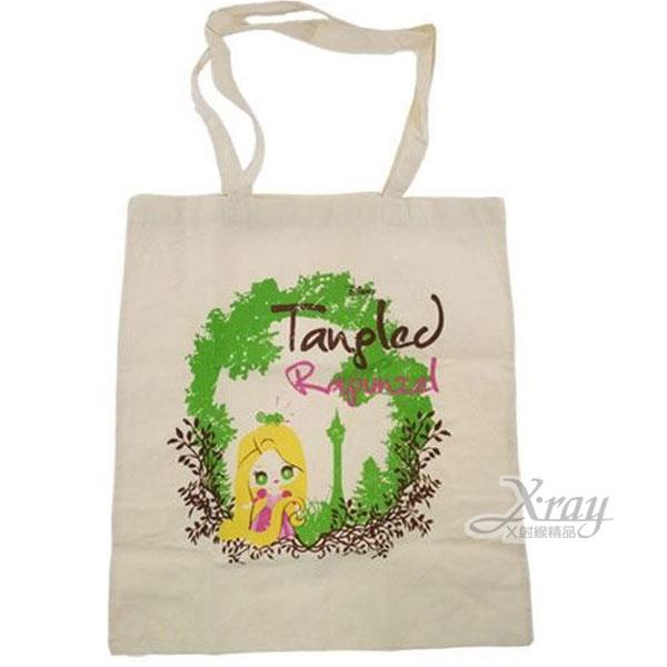X射線【C373252】魔髮奇緣帆布肩背袋(米白.公主.森林),手提袋/肩背包/帆布袋/收納袋/雜物袋