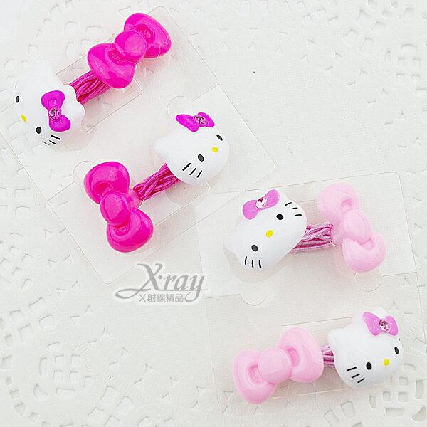 X射線~B210958~Hello Kitty立體蝴蝶結彈力髮束~粉.桃.大臉.2款 出貨