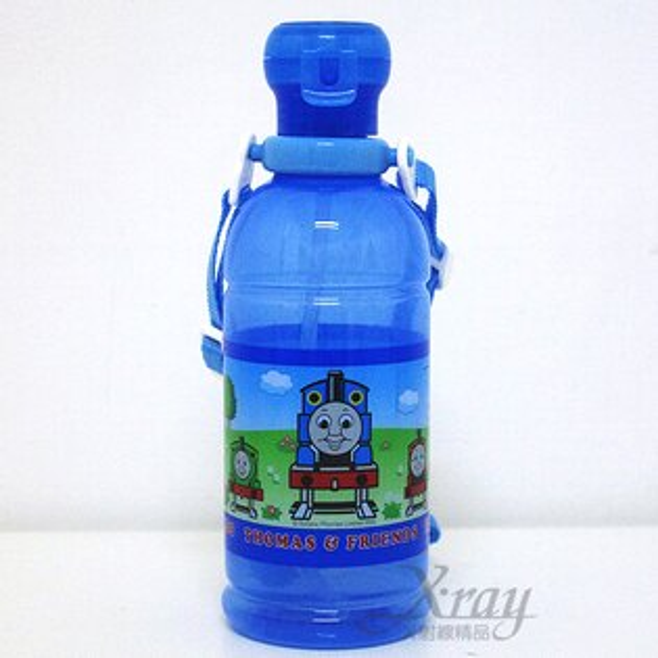 X射線【C061349】湯瑪士冷水壺(藍色透明)400ML,附背繩/日本製