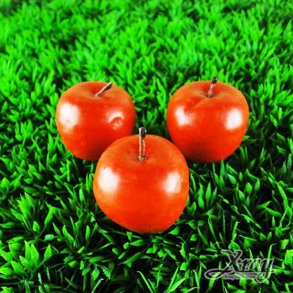 X射線【B491501】造型水果香味蠟燭/婚禮小物(紅蘋果)