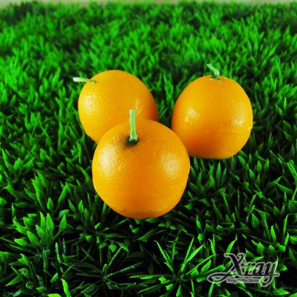 X射線節慶王【B491504】造型水果香味蠟燭/婚禮小物(橘子)