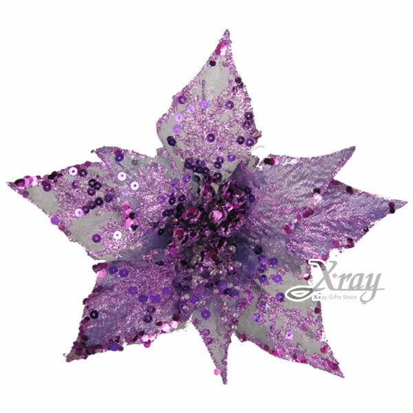 X射線【X090070 】中雷射聖誕紅(紫色),春節/過年/人造花/花材裝飾/假花