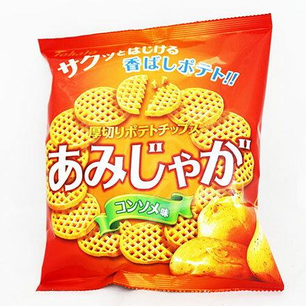 【敵富朗超巿】Tohato東鳩 厚切網狀洋芋片-雞汁 0