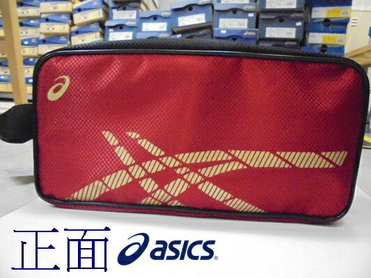 [陽光樂活] ASICS 運動鞋袋 紅底金Logo Y31522-2390