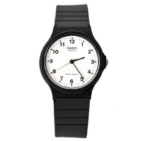 CASIO卡西歐經典基本款手錶 黑白配色中性款腕錶 輕巧設計 柒彩年代【NE1604】原廠公司貨