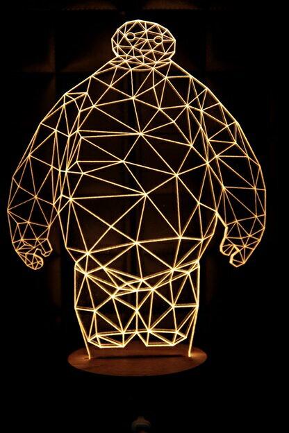 LED  3D立體燈 杯麵 木質底座 小夜燈 氣氛燈 燈 USB 生日 聖誕 ~  好康折