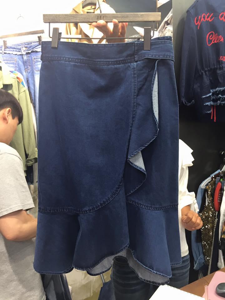 正韓魚尾及膝牛仔裙(現/預) 5