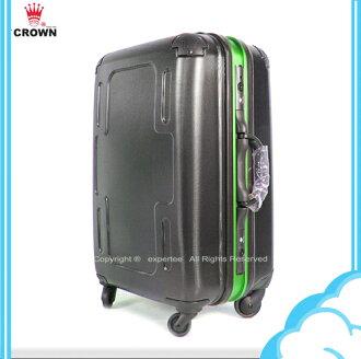 請先詢問庫存【騷包館】CROWN 皇冠 29吋新十字霧面亮邊框硬殼旅行箱 綠色C-F2501