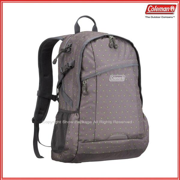 預訂【騷包館】【Coleman】美國戶外品牌 休閒實用後背包 25L 圓點灰 CM-B450JM0GD