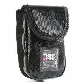 THINK PINK☆ 潮流型男專櫃品牌-酷酷風-手機掛抅包(亮眼黑)