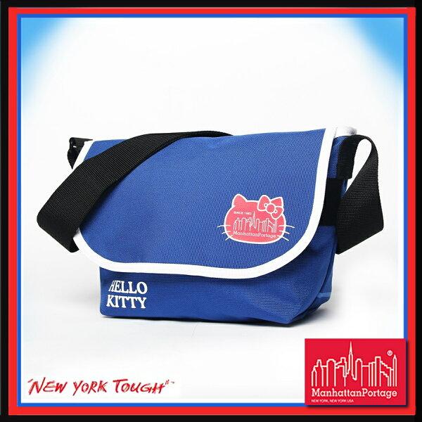 【騷包館】曼哈頓 紐約品牌 HELLO KITTY 凱蒂貓 聯名款中郵差包 風暴藍 MP1605JR-KTY-BL Manhattan Portage
