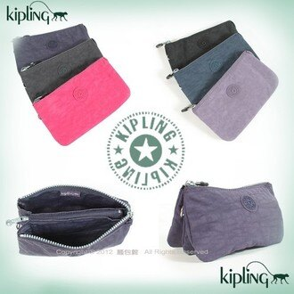 【騷包館】6色  Kipling 比利時品牌 Basic系列 超實用方便攜帶3夾層(大)6色 37999-3265