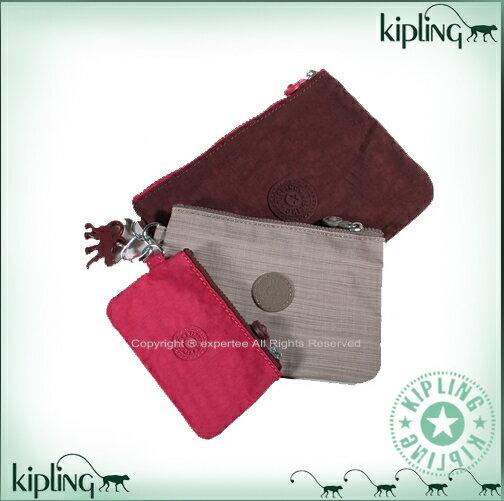 【騷包館】Kipling 比利時品牌 超值組 三件組零錢包==桃紅+髮絲灰 K-375-0978-801