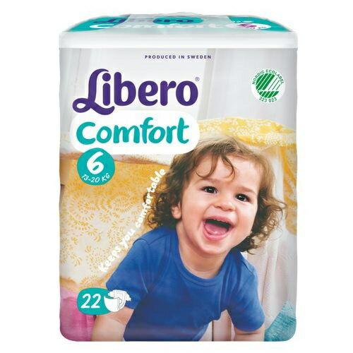 ★衛立兒生活館★麗貝樂 Libero 嬰兒紙尿褲XXL 6號-22片x8包(尿布)