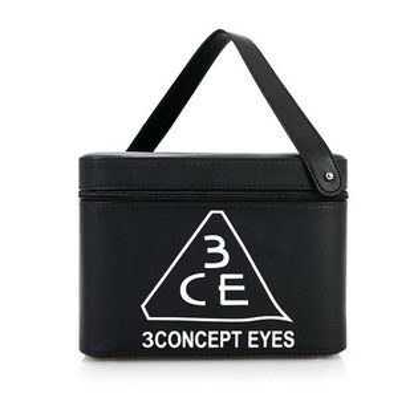 3CE化妝包 - 3CONCEPT EYES 大容量防水專業雙層手提化妝包化妝箱 附鏡子〖AN SHOP〗
