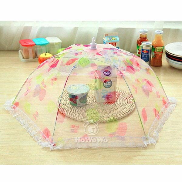 食物罩  可折疊圓形蕾絲飯菜罩  防蠅罩  ZE5025