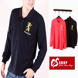 CS衣舖 質感萊卡 美式風格 長袖POLO衫 1509 - 限時優惠好康折扣