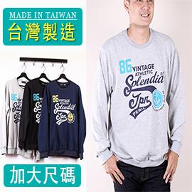 CS衣舖 台灣製造 加大尺碼 棉質內刷毛 高磅 不起球 大學T  長袖 衛衣 300399 - 限時優惠好康折扣
