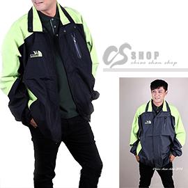 【CS衣舖.6121】5L-6L超大碼 薄款 高機能防風外套 兩色