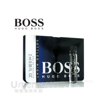 《Umeme》BOSS Bottled Night 夜自信男性淡香水2ml