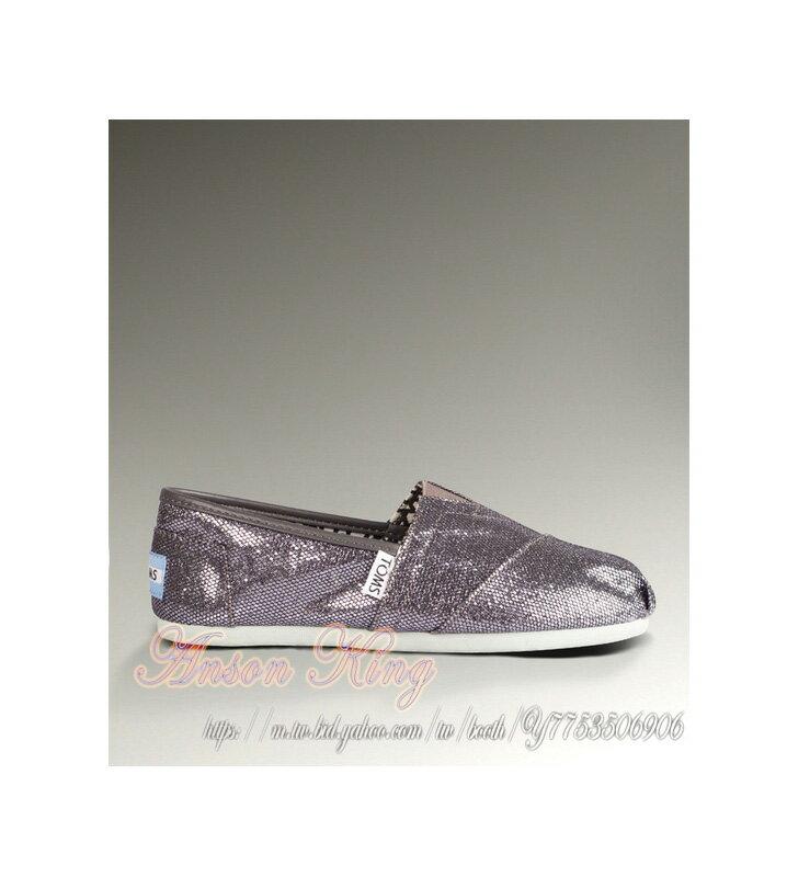 [女款] 國外代購TOMS 帆布鞋/懶人鞋/休閒鞋/至尊鞋 亮片系列  灰色 0