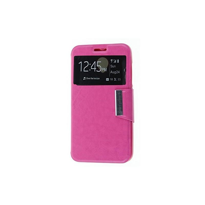 Funda CUERO Tipo LIBRO VENTANA Stand Vodafone Smart Prime 6 / Alcatel One Touch Pop 2 (5) 1