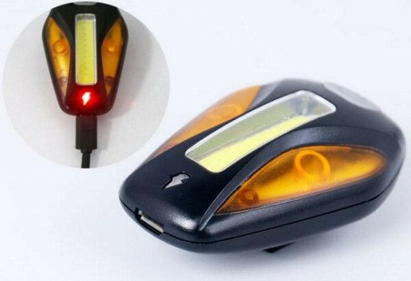 《促銷》原價380 現在只要...雙色爆閃USB充電 ET警示燈 高亮度 自行車尾燈 警示燈爆閃燈頭燈定位燈LED車燈