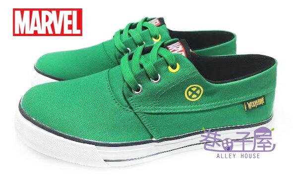 【巷子屋】MARVEL 男款英雄系列經典帆布運動休閒鞋 [43955] 綠 MIT台灣製造 超值價$250