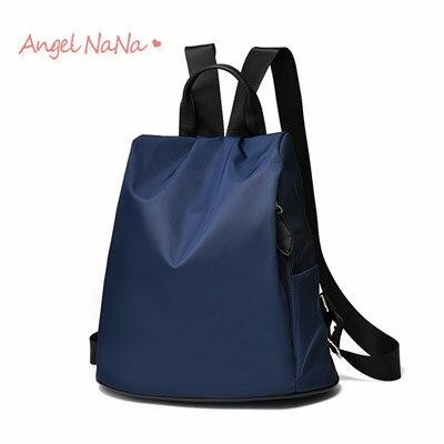 後背包。韓國風 簡約純色 尼龍 女雙肩包【B168】AngelNaNa
