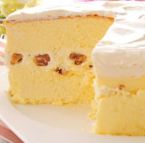 【乳酪二次方】經典核桃★超濃純的5吋奶香乳酪蛋糕-搭配超濃的生乳酪醬 1