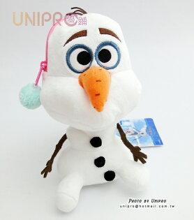 【UNIPRO】日貨 迪士尼 冰雪奇緣 FROZEN Q版 雪寶 Olaf 斜背包 零錢包 坐姿 絨毛玩偶 娃娃