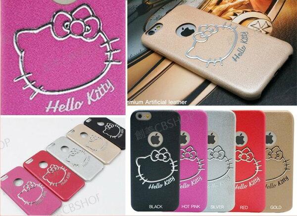 創美[K015] 韓國 KITTY 立體 經典 軟皮 皮革 手機殼 保護殼 保護套 IPhone 6 6S Plus Note5 Note4 S5 S6 Edge Note3 S6Edg+