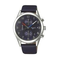 agnès b.到agnes b VD57-KT20U(BM3009X1)巴黎時尚計時腕錶/藍面40mm