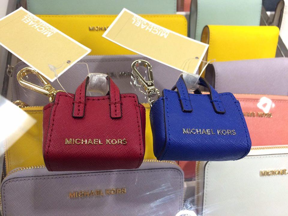 【MICHAEL KORS】正品 MINI MK鑰匙圈 紅\藍 1