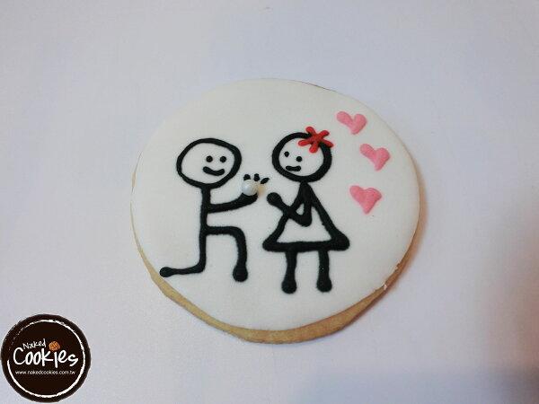 【裸餅乾Naked Cookies】嫁給我吧!6入-創意手工糖霜餅乾,婚禮/生日/活動/收涎/彌月