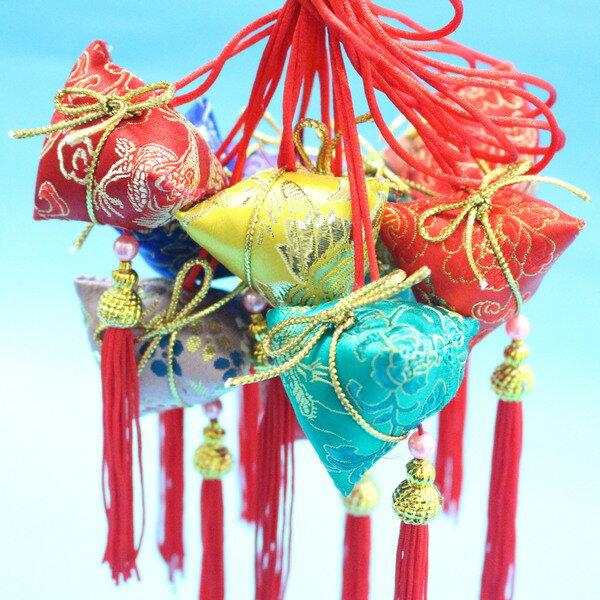 台灣製粽子香包 鹿港阿媽粽子手工香包 端午節香包(成品.項鍊式)/一個入{定100}