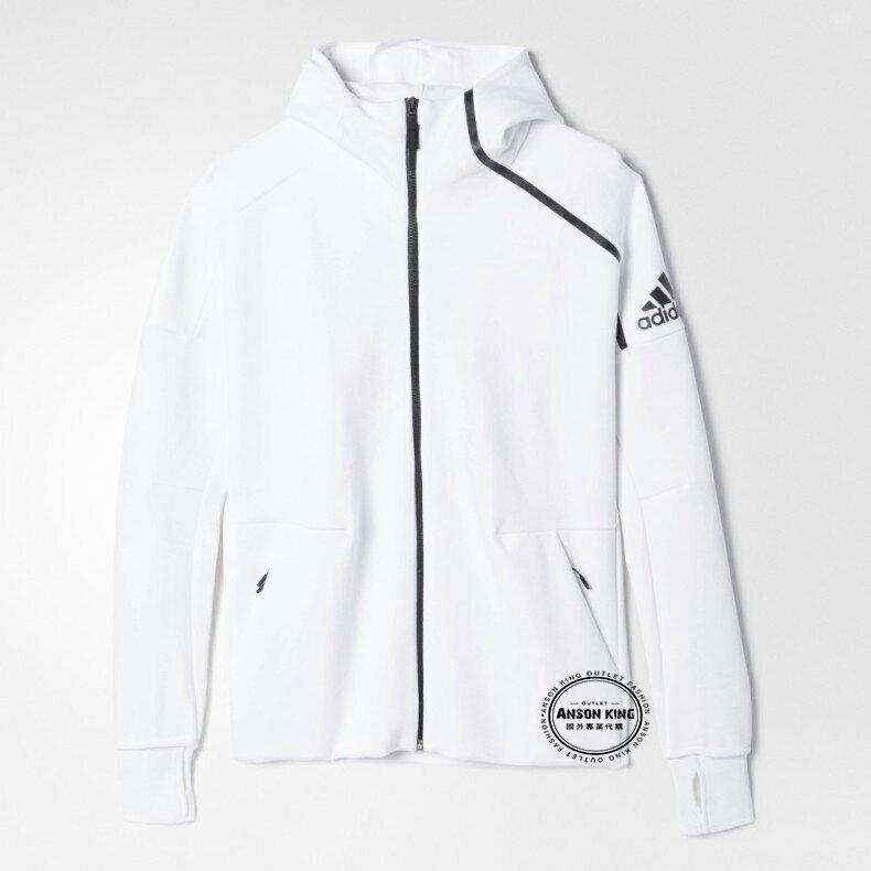 國外代購直送 正品 Adidas Zne Hoodie White 愛迪達 連帽運動休閒外套 彭于晏 貝克漢 baby 1