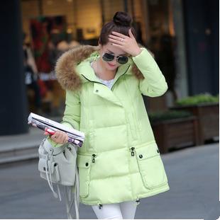 【鳶尾紫服飾館】羽絨服 韓版甜美羽絨外套 冬裝女 寬鬆連帽羽絨大衣 斗篷式棉外套 現貨