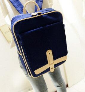 【瞎買天堂x學生最愛】流行韓風十字造型後背包 雙肩包 可當書包 可放iPad 可側背【BGAA0212】