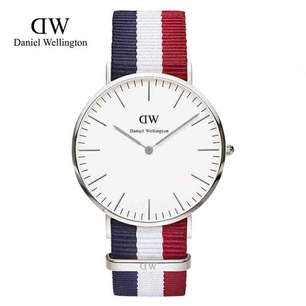 瑞典正品代購 Daniel Wellington 0203DW 銀 尼龍 帆布錶帶 男錶 手錶腕錶 40MM
