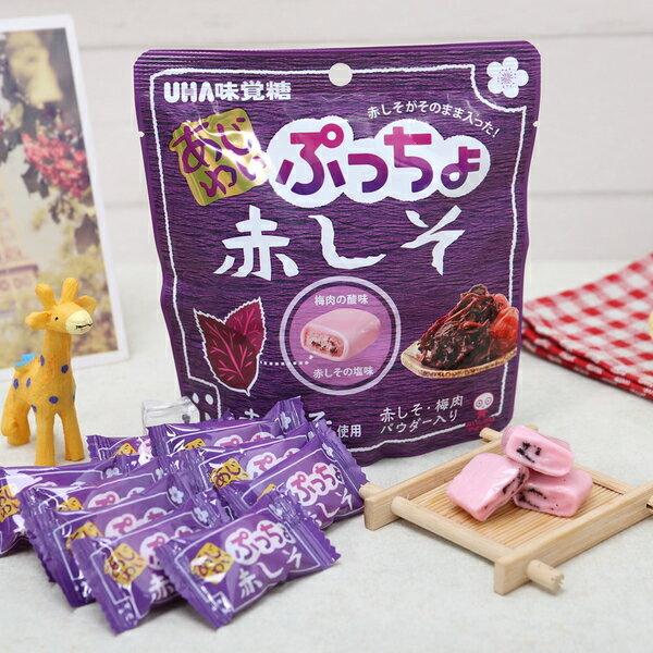 有樂町進口食品 日本進口 UHA味覺糖噗啾 紫蘇梅軟糖 60g 49027508666522 0