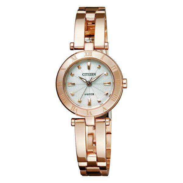 CITIZEN星辰WICCA(EP5843-54A)玫瑰金手環典雅腕錶/白面23mm
