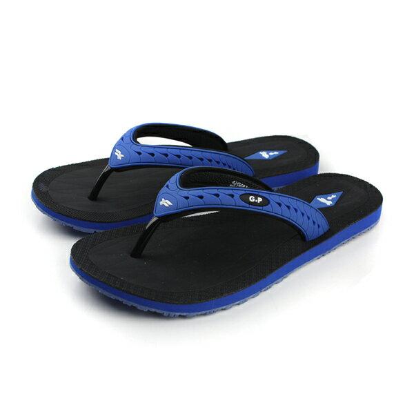G.P 夾腳拖鞋 藍 男款 no654
