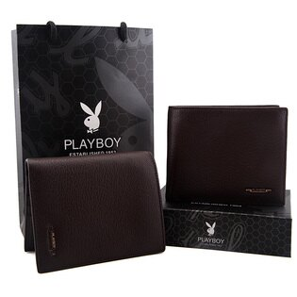 【橘子包舖P110903】PLAYBOY.男頭層牛皮長夾.超軟皮夾.錢包